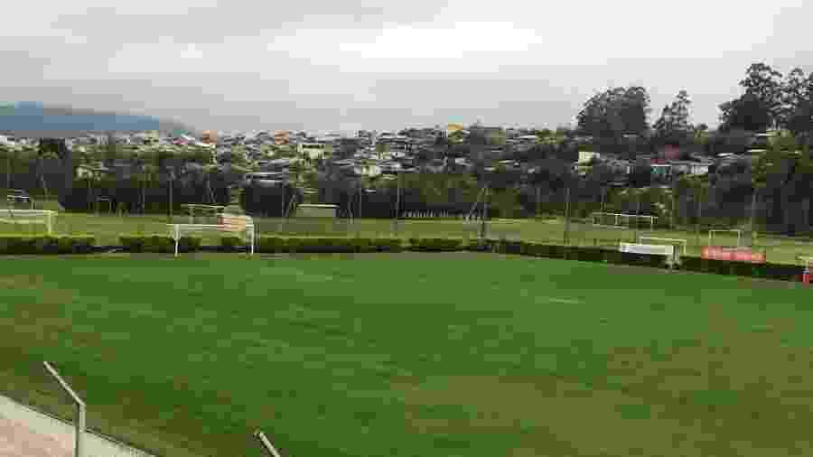 Gramado do CT Morada dos Quero-Queros, onde o Inter irá enfrentar o Aimoré - Divulgação/Inter