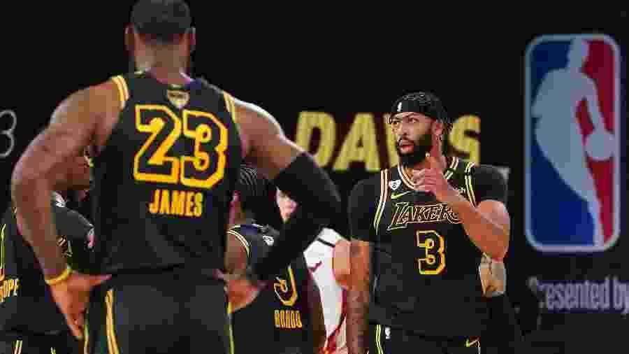 Anthony Davis e LeBron James no segundo jogo da final da NBA - NBAE via Getty Images