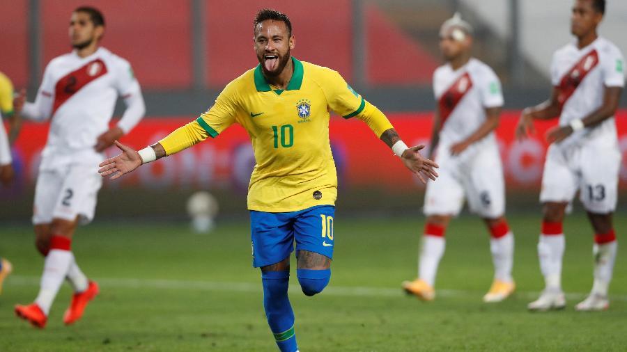 Neymar foi elogiado por Rivaldo após brilhar pelo Brasil contra o Peru - Paolo Aguilar/Pool via REUTERS