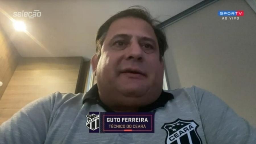 Guto Ferreira, técnico do Ceará, vê Flamengo mais lento em relação ao ano passado - Reprodução/SporTV