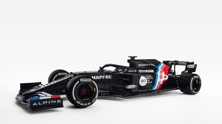 Pintura de 2021 do carro da Alpine, ex-Renault e nova equipe de Alonso na F1 - Divulgação/Alpine