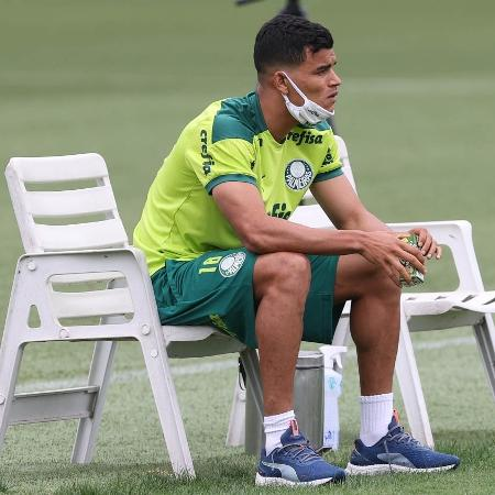 Danilo Barbosa, do Palmeiras, durante treino na Academia de Futebol - Cesar Greco