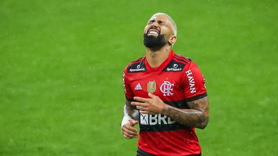 Gabigol é denunciado no STJD por expulsão em jogo do Flamengo contra o Inter - Pedro H. Tesch/AGIF