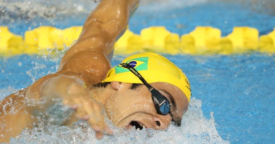 Kaio Márcio nada as eliminatórias dos 200 m borboleta. Mesmo se poupando, ele se classificou para a final da prova