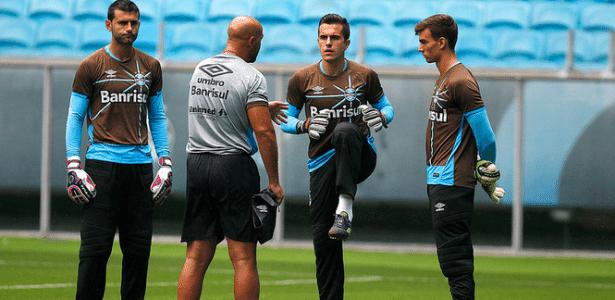 Goleiros do Grêmio receberão atenção especial em treinamentos no México - Lucas Uebel/Divulgação/Grêmio