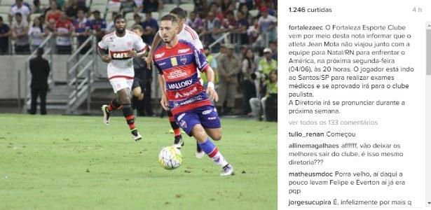 Jean Mota foi oferecido de graça ao Santos quando deixou a Portuguesa em 2015