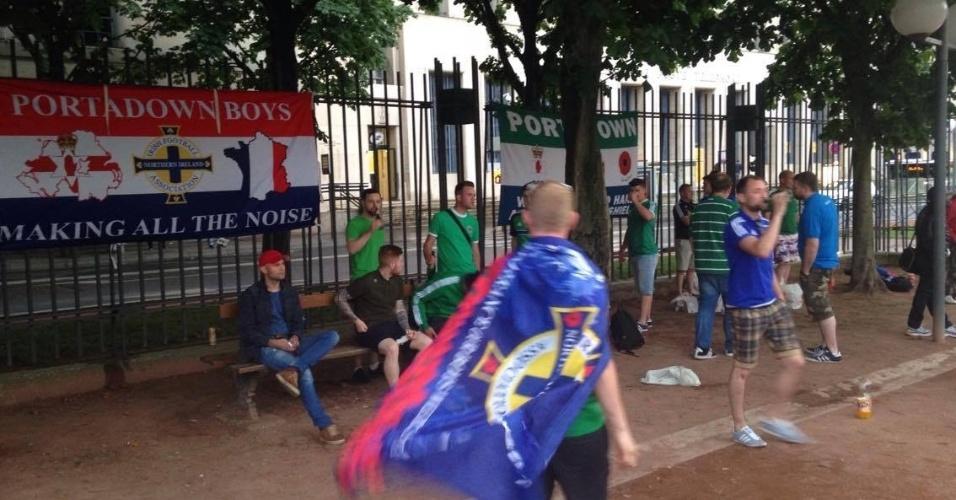 Torcedores da Irlanda estavam em toda parte de Lyon