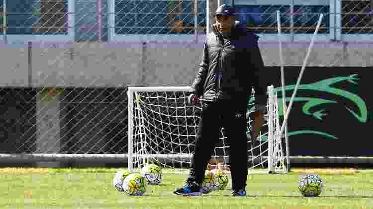 O técnico Roger Machado em treino do Grêmio - LUCAS UEBEL/GREMIO FBPA - LUCAS UEBEL/GREMIO FBPA