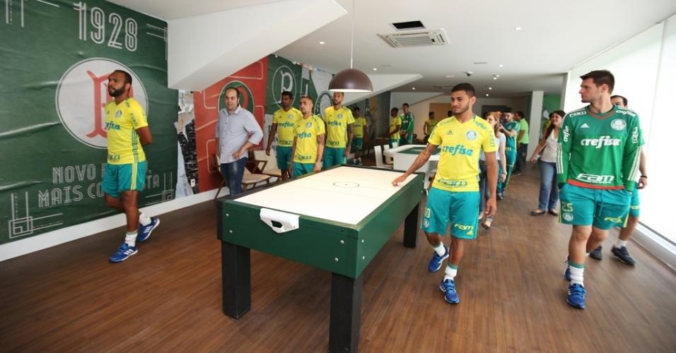 Parte do salão de jogos da Academia do Palmeiras