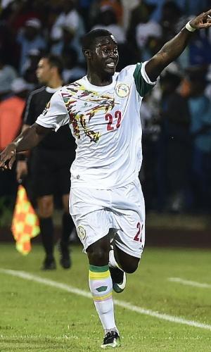 Henri Saivet, da seleção do Senegal, na Copa Africana de Nações 2017