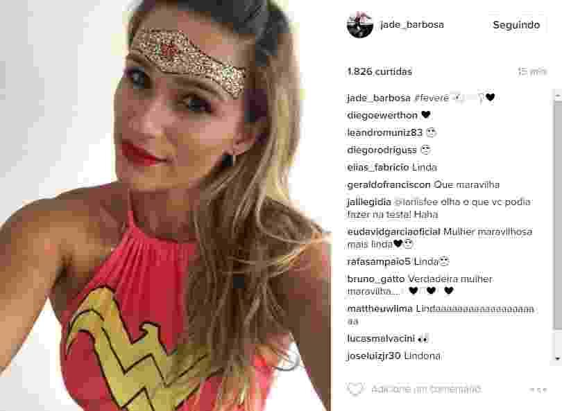 Jade vira a Mulher Maravilha no Carnaval - Reprodução/Instagram