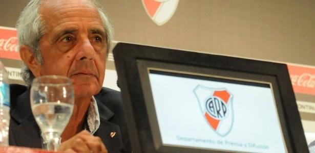"""Presidente Rodolfo d""""Onofrio insinuou que rival quer ganhar título fora de campo - Divulgação/CA River Plate"""