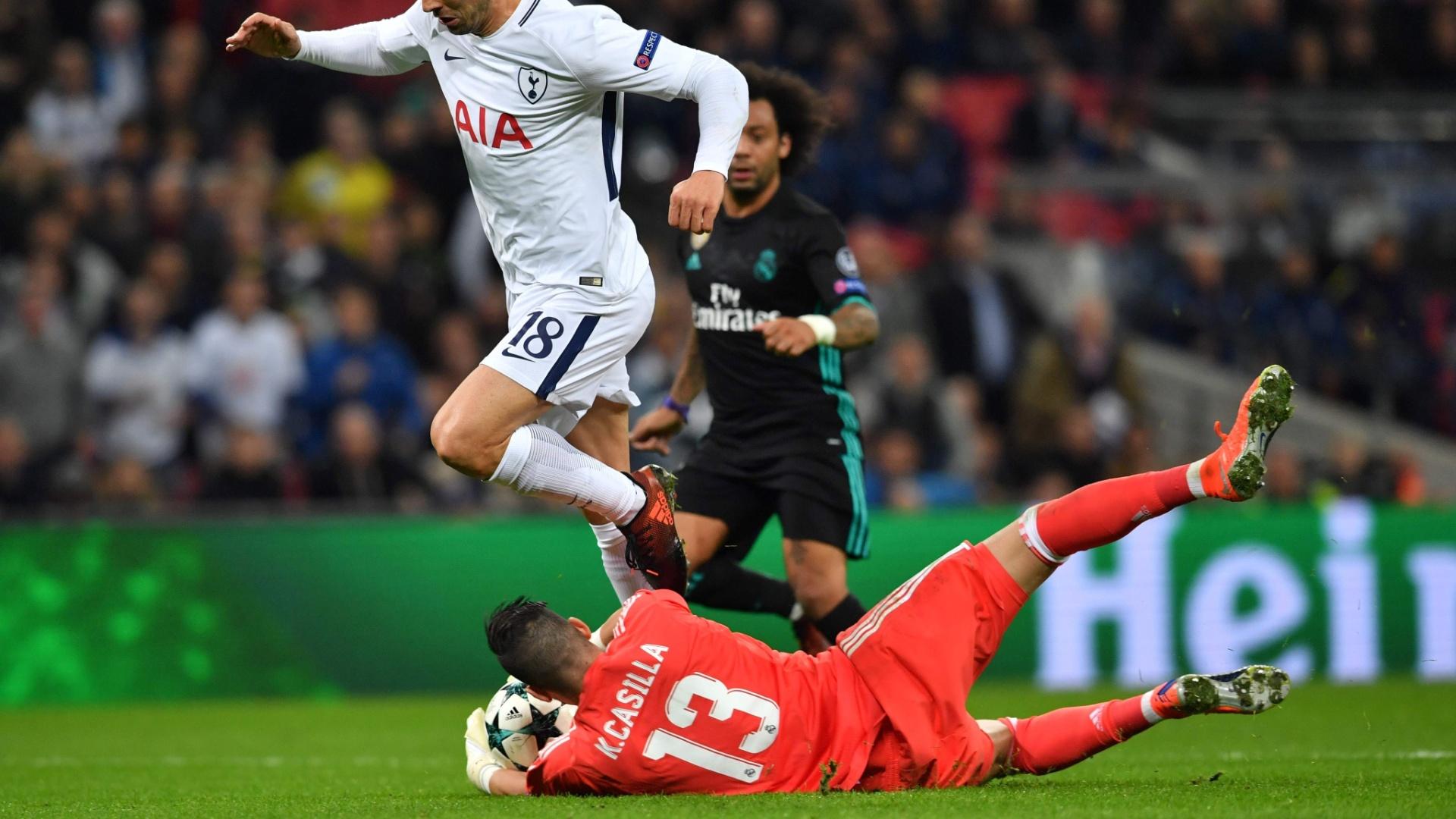 Casilla impediu que o Tottenham vencesse o Real por um placar mais elástico