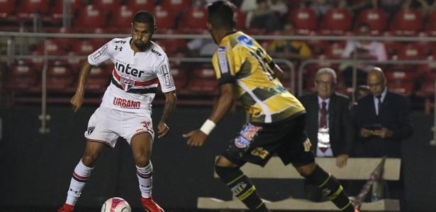 Caique atuou por 13 minutos no empate em 0 a 0 com o Novorizontino sábado passado