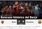 Veja as melhores fotos da emocionante festa da Roma na Liga dos Campeões - Alberto Lingria/Reuters