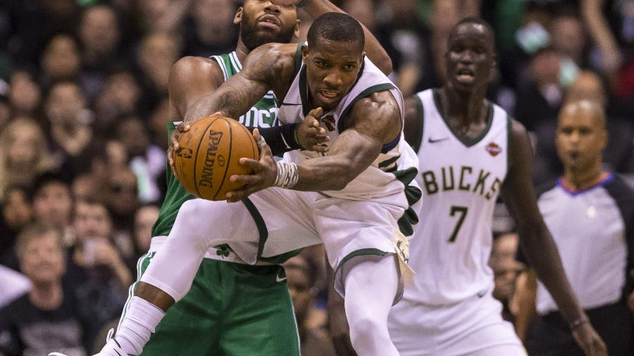 Eric Bledsoe, do Milwaukee Bucks, durante vitória sobre Boston Celtics - Jeff Hanisch-USA TODAY Sports