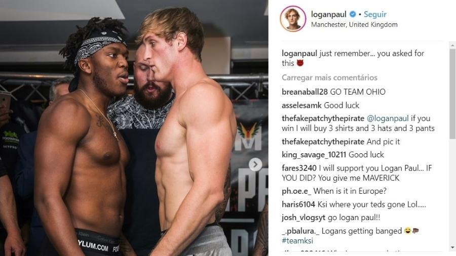 Youtubers resolvem rivalidade em luta de boxe - Reprodução/Instagram