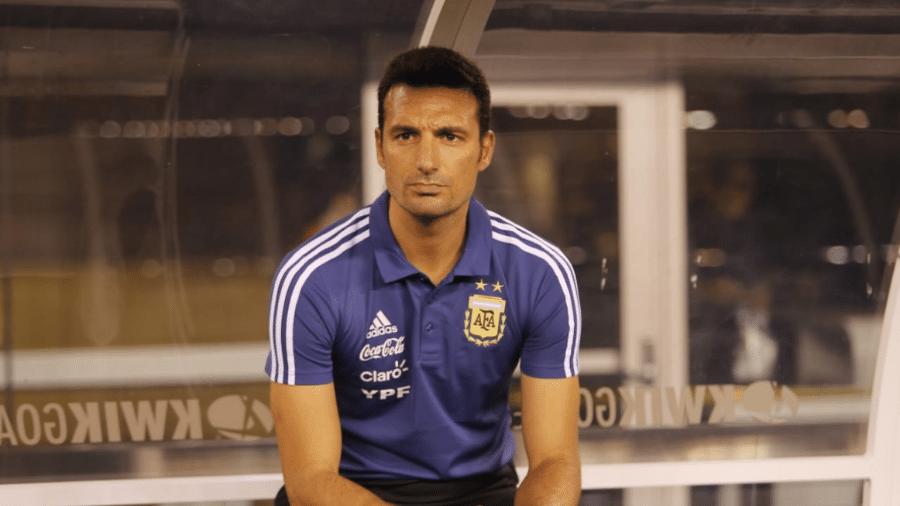 Técnico Lionel Scaloni comanda a seleção argentina em amistoso contra a Colômbia - Reprodução/Twitter