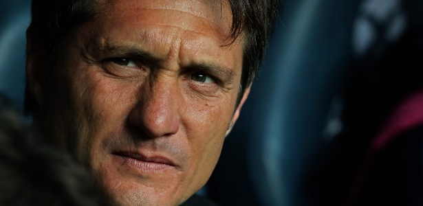 Guillermo Barros Schelotto em ação como técnico do Boca Juniors - Alejandro Pagni/AFP