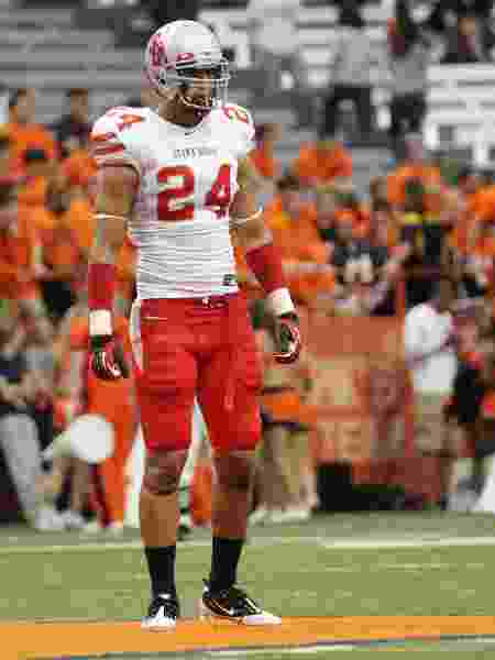 Dominick Reyes, quando jogava futebol americano - Nate Shron/Getty Images - Nate Shron/Getty Images