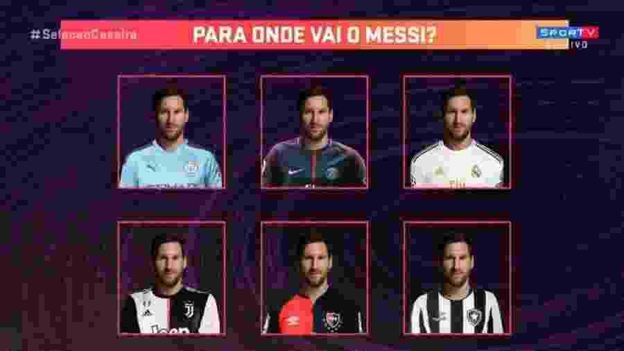 """Seleção SporTV """"sugere"""" Messi no Botafogo - Reprodução/SporTV"""