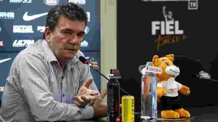Andrés Sanchez, presidente do Corinthians, concedeu entrevista coletiva virtual hoje (17) - Rodrigo Gazzanel / Agência Corinthians