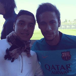 Alisson Farias com Neymar em visita ao Barcelona - Reprodução/Instagram