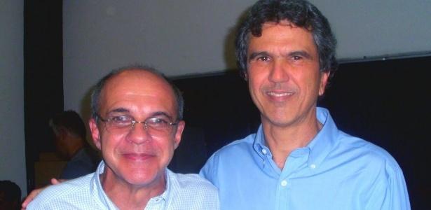 Mário Esteves (d) preside o Conselho Fiscal desde 2013 - gestão Bandeira de Mello (e) - Divulgação/Blog Ser Flamengo