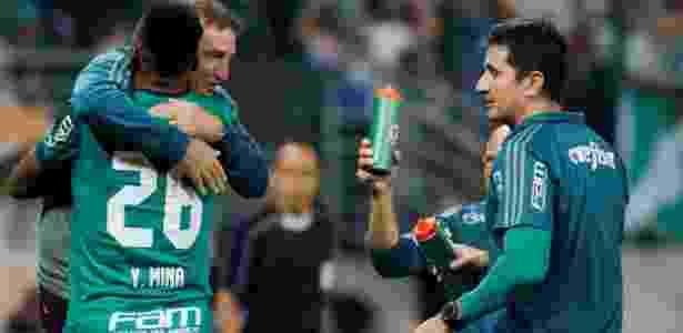 Gol de Mina saiu em jogada muito trabalhada por Cuca na Academia de Futebol - Nacho Doce/Reuters