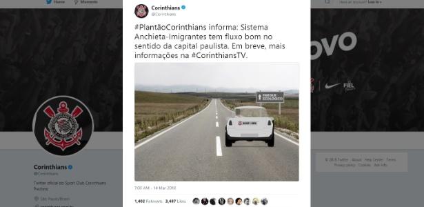 Em postagem nas redes sociais, Corinthians fez alusão à chegada de Zeca