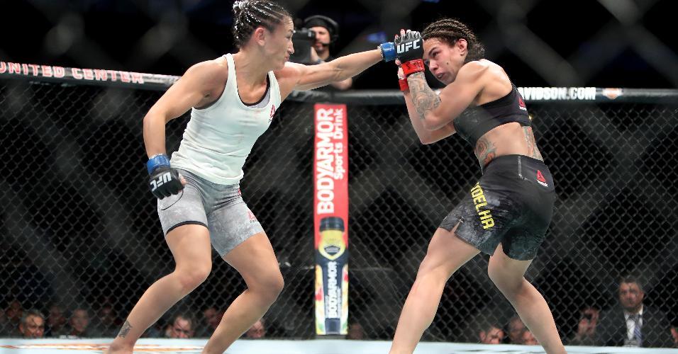 7ac31f24b Claudia Gadelha (à direita) e Carla Esparza se enfrentaram no UFC 225