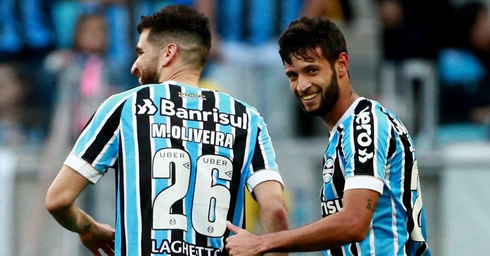 Juninho Capixaba marcou o segundo gol do Grêmio contra o Paraná