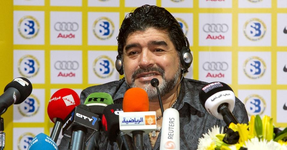 Maradona durante o período a frente do Al Wasl