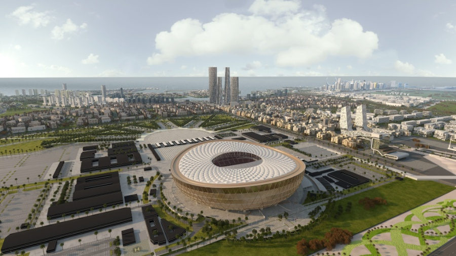 Losail Iconic Stadium será sede do jogo de abertura e da final da próxima Copa - Qatar?s Supreme Committee for Delivery and Legacy / AFP