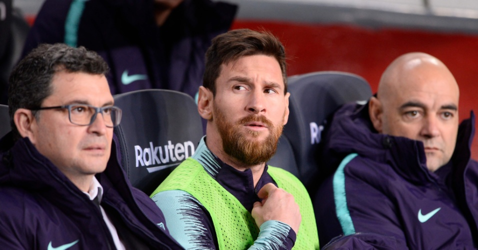 Messi ficou no banco de reservas contra o leganés