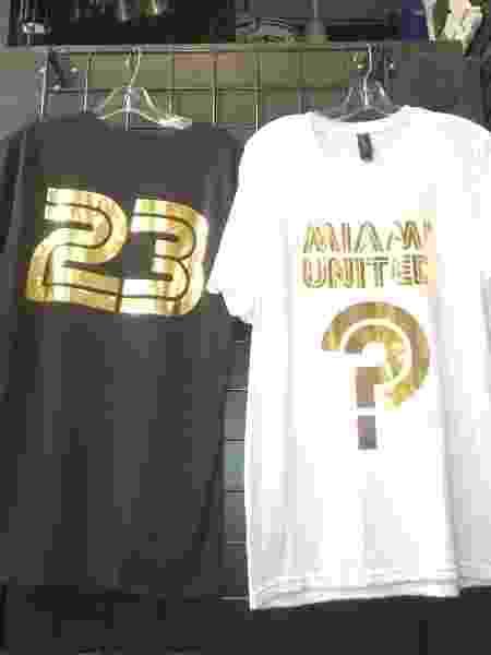 """Camisas """"misteriosas"""" lançadas por Beckham em 2014, quando franquia da MLS foi comprada - Arquivo pessoal"""