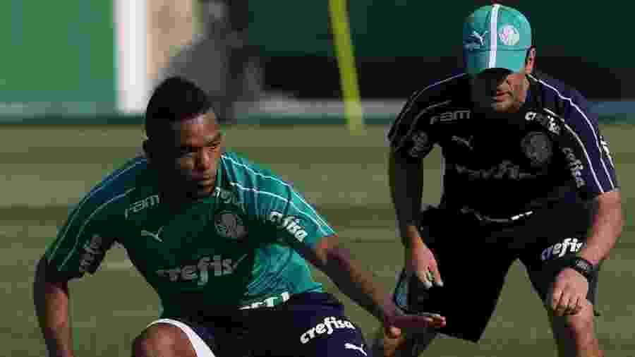 Borja, do Palmeiras, durante treinamento, na Academia de Futebol - Cesar Greco/Palmeiras