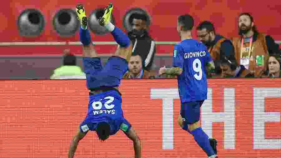Salem Aldawsari do Al-Hilal comemora gol durante a partida entre Flamengo  - CRISTIANO ANDUJAR/FUTURA PRESS/FUTURA PRESS/ESTADÃO CONTEÚDO