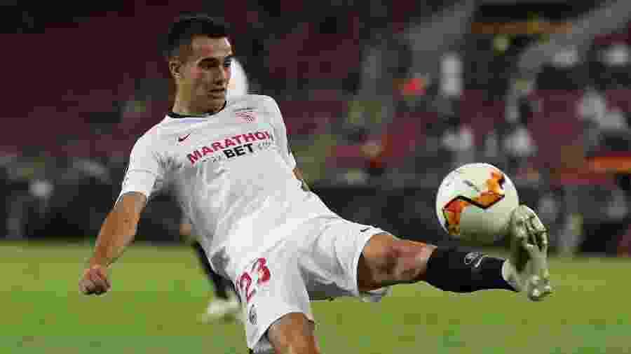 Sergio Reguilón, lateral que pertence ao Real Madrid e estava emprestado ao Sevilla - James Williamson - AMA/Getty Images