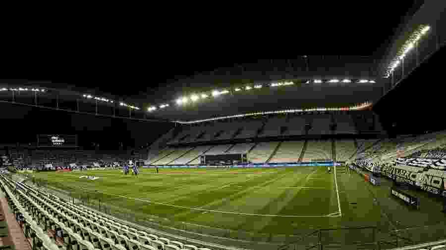 Neo Química Arena antes do duelo entre Corinthians x Atlético-GO pelo Brasileirão 2020 - Ettore Chiereguini/AGIF
