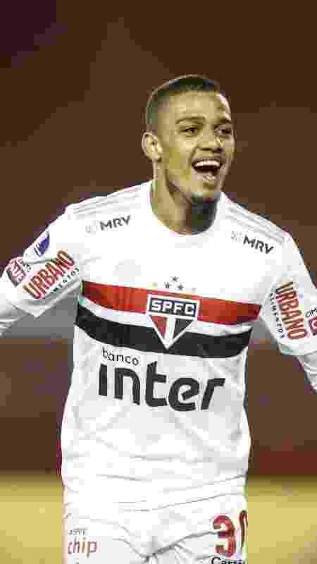 Brenner comemora gol marcado para o São Paulo contra o Lanús - Staff Images / CONMEBOL - Staff Images / CONMEBOL