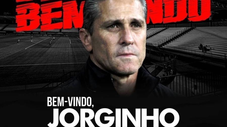 Jorginho é anunciado como novo técnico do Atlético-GO - Reprodução/Instagram