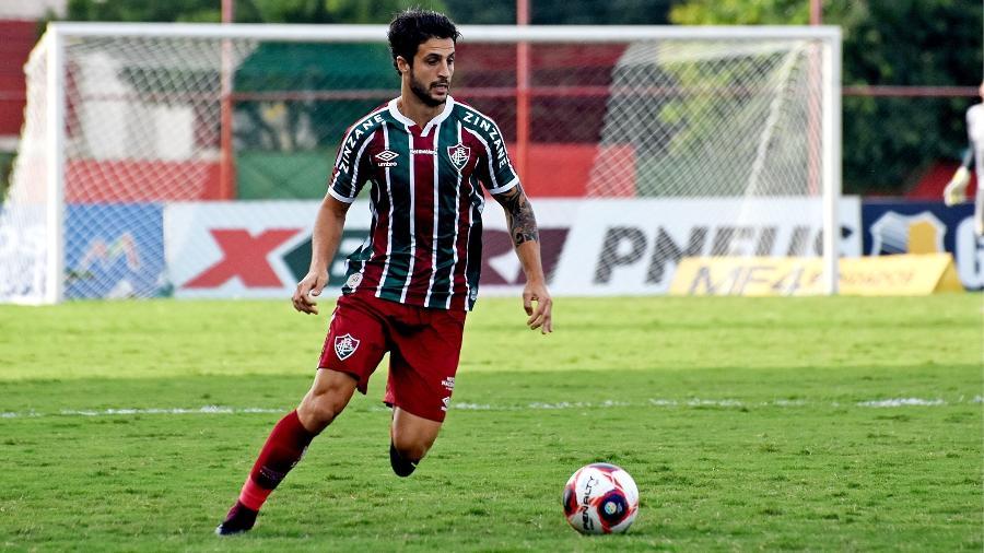 Hudson sofreu ruptura no ligamento do joelho direito, e virou desfalque no Fluminense - Mailson Santana/Fluminense FC