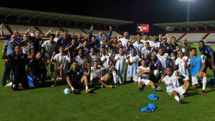 Grêmio Anápolis comemora classificação para a final no Campeonato Goiano - Divulgação/ Grêmio Anápolis