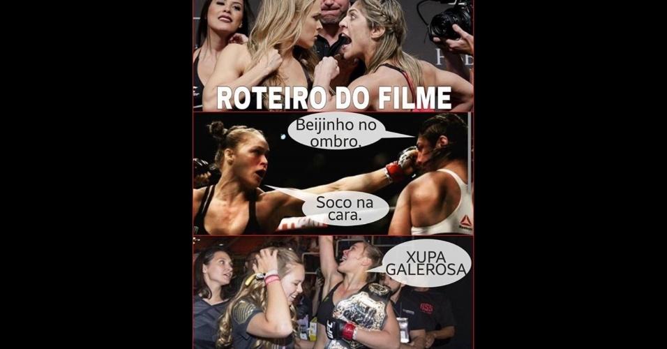 Torcedores fazem piadas na Internet com a vitória de Ronda Rousey sobre Bethe Correia