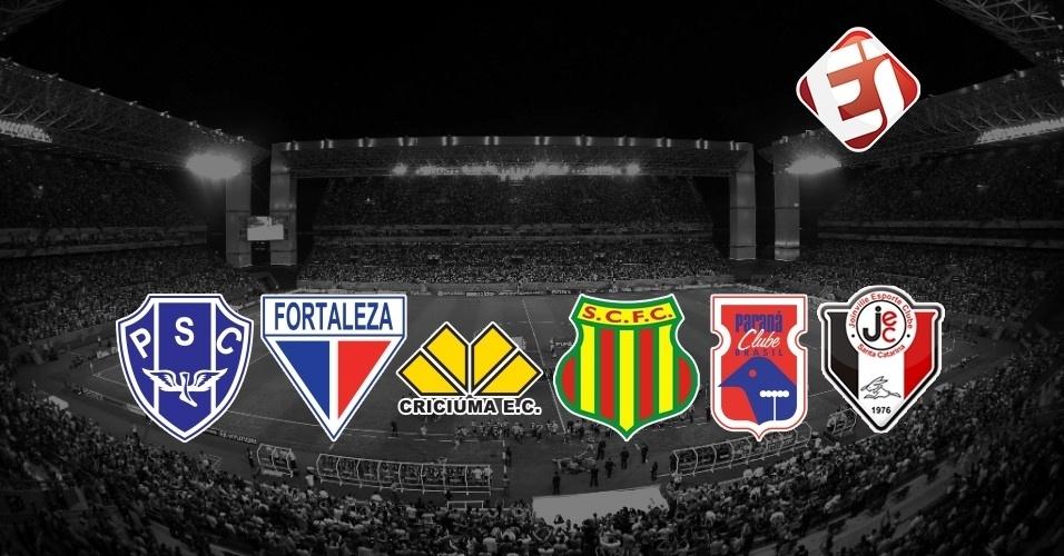 Sampaio Corrêa, Criciúma, Joinville, Paysandu, Paraná (Série B) e Fortaleza (Série C) assinaram compromissos individuais com o Esporte Interativo, que só serão válidos caso estejam na primeira divisão entre 2019 e 2024