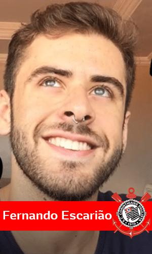 """O vlogger Fernando Escarião tem mais de 145 mil seguidores em um canal do Youtube que aborda o universo gay. Em seu Twitter, ele escreveu: """"Tentei fazer parte do mundo heteronormativo um tempão, era um sofrimento quando tinha jogo do Corinthians e eu fingia que tava interessado"""""""