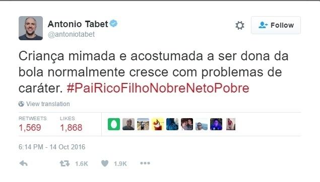 Kibe Loco Antonio Tabet Palmeiras Flamengo