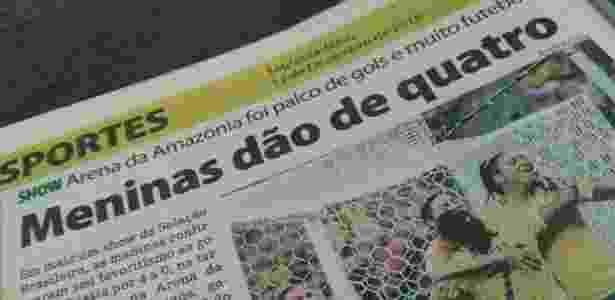 """Manchete do jornal """"Manaus Hoje"""" provocou discussões nesta segunda-feira - Reprodução"""