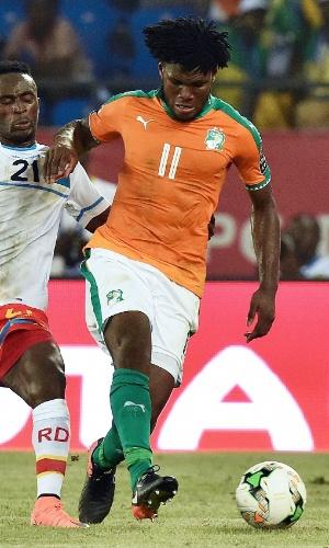 Franck Kessie, da seleção da Costa do Marfim, na Copa Africana de Nações 2017